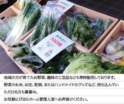 地域の物産や工芸品も売っています。